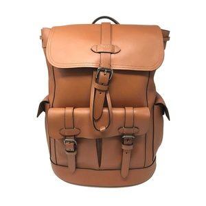 Coach Men's Hudson Backpack Saddle Natural Leather